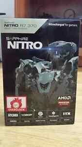 2x carte graphique amd r7 370 nitro 2gb + PSU  600w Graphic card