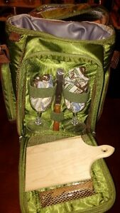 Portable Wine and Cheese Picnic Carrier