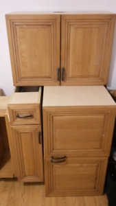 Cupboards and drawer set, excellent condition  $50 obo for all