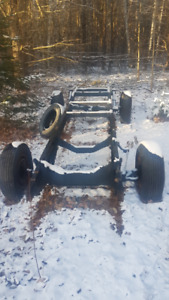 1957 Chevy 1/2 ton short box rolling chassis,