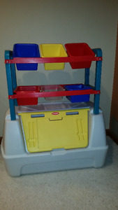Toy Storage Unit with Bins
