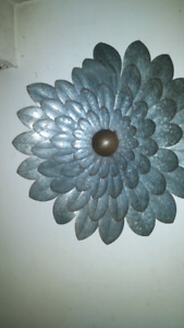 Metal flower decor
