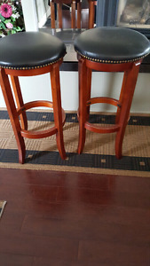 Two Counter High Stools