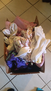 Box of Miscellaneous Baby Girl Stuff