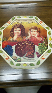 Vintage Collectable Anticipation Fruit Cake Tin Made in England