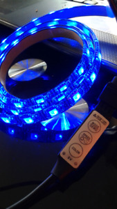 5 volt RGB LED 100cm light strip with USB or battery pack