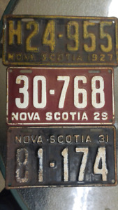 Wanted older Nova Scotia License Plates