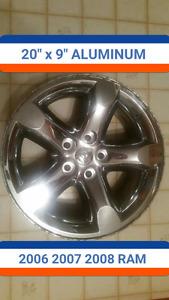 "20"" aluminum wheels DODGE RAM 1500 2006-2008 factory O.E.M."