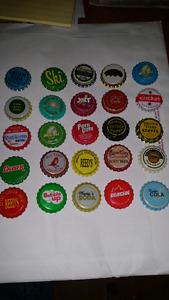 980 random vintage bottle caps