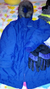 Girls Size 14-16 Purple Columbia Winter Jacket