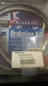 Steel braided front brake lines