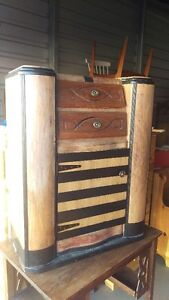 Antique Radio Cabinet Repurposed For Storage (Delivery availabl)