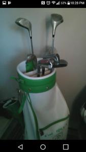Sac et bâton de golf