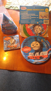 Brand new never opened Thomas party theme