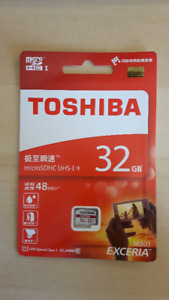 TOSHIBA 32GB 48MB/s micro SD card