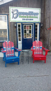 Sports adirondack chairs now available at Benmiller Home &Garden