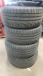 4x Full Set - 245/40R18 Pirelli Winter Tires 10/32 Like New