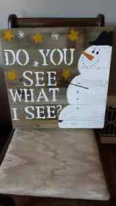 Do you see what I see-Snowman Sign London Ontario image 1