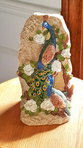 Home - indoor - Peacock / peahen bookends - -polyresin London Ontario image 2