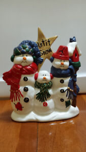 Hand painted snowmen and Christmas bears