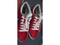 Red Ralph Lauren trainers