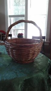 Oversized wicker basket