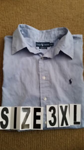 Men's long sleeved shirts Size 3XL , Like new $10Size is 18