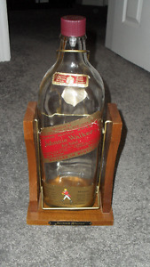 Johnnie Walker Bottle on Stand