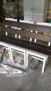 Chalk painted bench