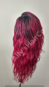 Lace Front Wig - 100% Human Hair (Coloured - ombre)
