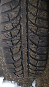 195/60R15 - 4 WINTER TIRES with steel rims. $350