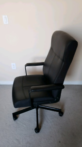 SELLIBG BLACK IKEA OFFICE CHAIR. SWIVELS AND RECLINES. $40 OBO.