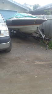 18' BOAT,MOTOR and TRAILER