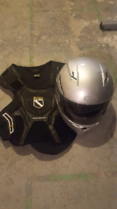 Body armour and bell helmet