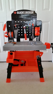 Black and Decker childrens work bencgh with tools