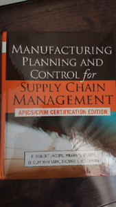 Livre manuel manufacturing planning and control