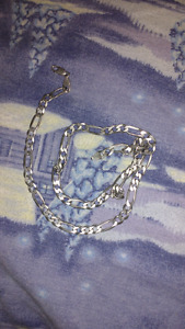 "23"" 925 italy silver chain mint condition"