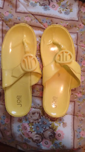 Womens yellow sandals