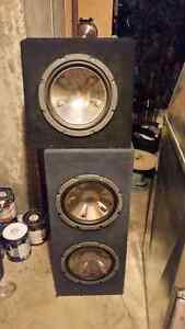 Pioneer Bullet 12 inch subs three in two different boxes