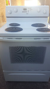 Electric stove 150.00, white, self cleaning, delivery available