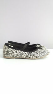 "White & black ""dalmatian print"" shoes, Toddler Girl size 10"