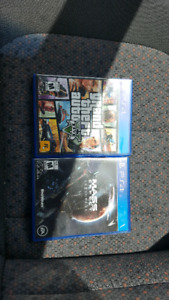 PS4 Games - Grand Theft Auto 5 & Mass Effect Andromeda