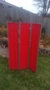 Red fabric deviding panel for sale