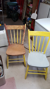 100 plus year old table and chairs