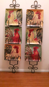 Decorative Rooster plates