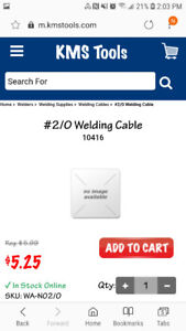 400ft 2/0 welding cable