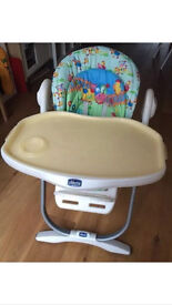Chicco Polly Magic Highchair With Newborn Insert/wedge + Play arch & toy