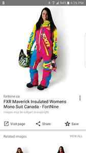Wanted womens FXR mono one peice snow suite