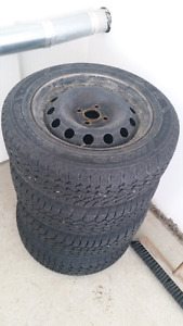 185 65R 15 Goodyear Nordic tires and rims