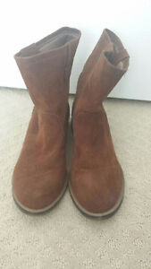 Brown Suede Ankle Slouchy Boots